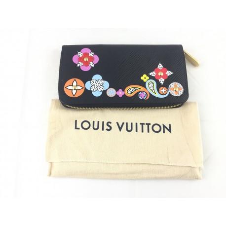 Louis Vuitton portafoglio Wallet zippy epi pelle nero Usato perfette condizioni