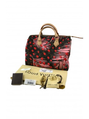 Louis Vuitton speedy jungle tropical 30 monogram Completa ottima