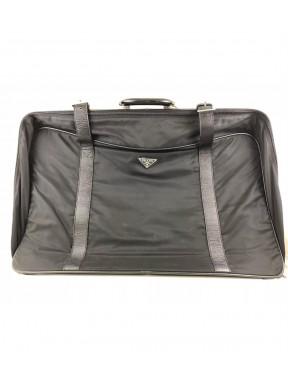 Prada valigia travel nera nylon pelle grande ottima