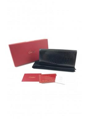 Portafoglio Wallet CARTIER nero lucido grande punterellato nuovo