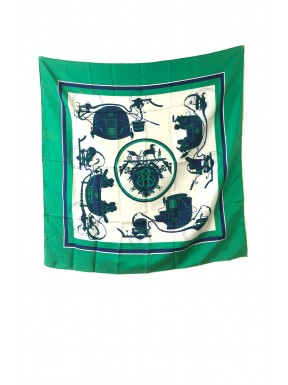 Hermès foulard seta silk 100% vintage 1946 verde Grygcar  full set