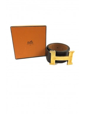 Hermès cintura belt constance H buckle marrone plaque gold usata