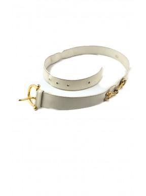 Gucci cintura belt bianca horsebit vintage plaque usata