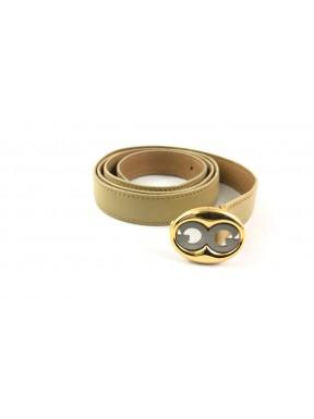 Gucci cintura belt GG vintage cream beige pelle usata