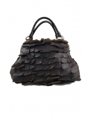 MIU MIU borsa pelle marrone brown Scales GM ruffled usata