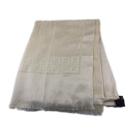 7860644dec Fendi sciarpa scarf beige monogram seta ottima - Beatrice Gioielli ...