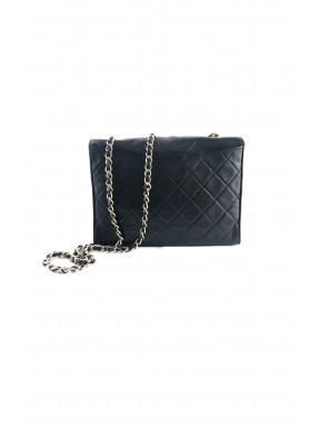 Chanel quilted flap 23 nera pelle vintage