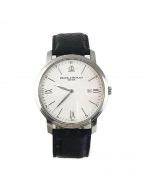 Baume & Mercier Classima orologio acciaio pelle quarzo completo